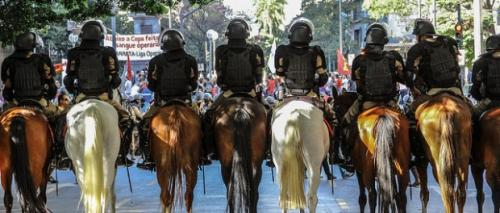 Policing of World Cup 2014 protest in Brazil