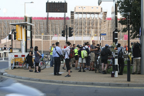 Vigil for Dan Harris 10 Aug 2012. Lea Interchange. Photo David Arditti