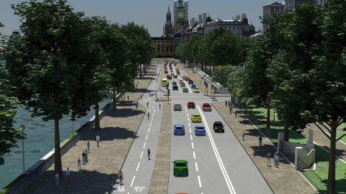 Vision for Victoria Embankment cycle superhighway