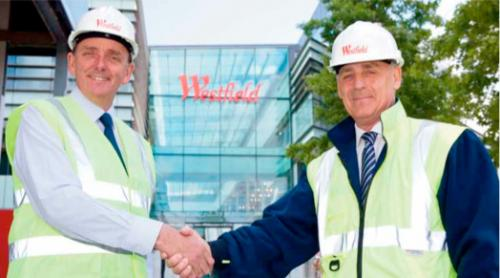 .: Sir Robin Wales (left) shaking hands with Westfield