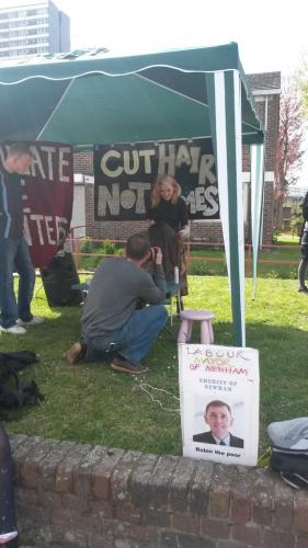 Cut hair not homes: Focus E15 action at Carpenters Estate