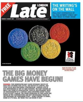 London Late - The Big Money Games - Spoof Newspaper