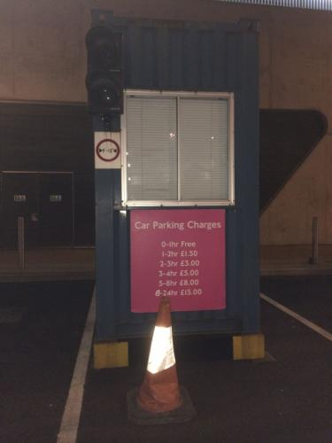 Aquatic Centre car park sign
